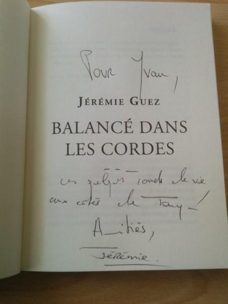Jérémie Guez balancé dans les cordes