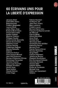 Nous sommes Charlie - Le livre de poche - liste des auteurs